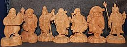 Seven Lucky Gods, Zelkova Wood Set