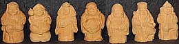 Seven Lucky Deities of Japan, Cypress Set