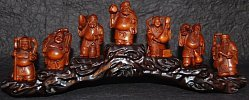 Netsuke Set of the Seven Lucky Deities of Japan