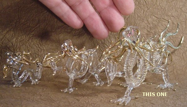 Large, Five Clawed Dragon, Glassware, Handmade in Thailand