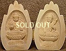 Sho-Kannon & Yakushi Buddha, Praying Hands Wooden Statue