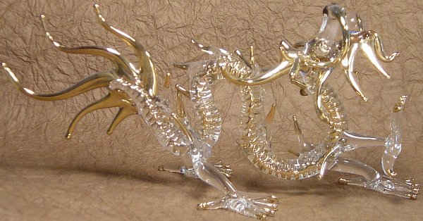 Five Clawed Dragon, Glassware, Handmade in Thailand