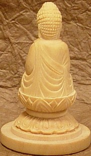 Shaka Buddha, Miniature Version, Wooden Carving