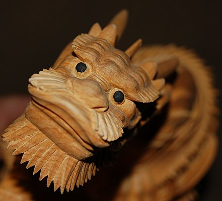 Large Dragon, Aromatic Japanese Nutmeg Wood