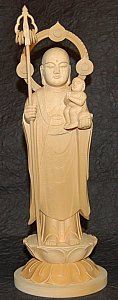 Koyasu Jizo - Japanese Cypress Wood