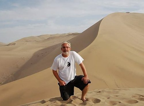 Mark Schumacher in Dunhuang, China