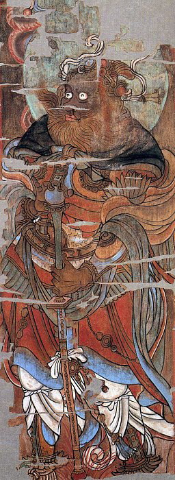 10-Komokuten-Virupaksa-painting-from-hidden-library-cave-dunhuang-china