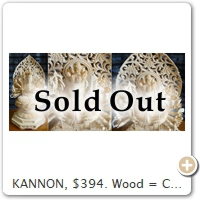 KANNON, $394. Wood = Cypress. Height = 18.5 CM.